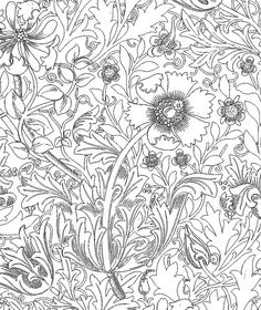 Galerie de coloriages gratuits / William Morris ウィリアム・モリスの塗り絵① | Art,etc.