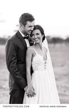 Bushveld wedding couple shoot | Dress by Kobus Dippenaar | Photo by Marsel Roothman
