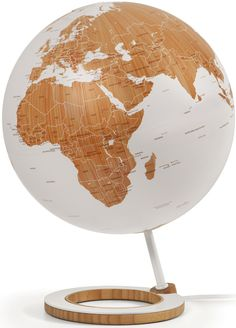 Trying to raise awareness for sustainability in our planet, Danish designer Kristoffer Zeuthen created this globe made of bamboo.