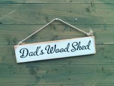 Handmade Shabby Chic Wooden Sign with jute rope.