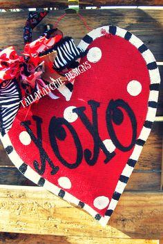 Valentine Heart Burlap Door by TallahatchieDesigns on Etsy