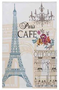 Tea towel in Paris theme with Eiffel Tower print Tour Eiffel, Paris Torre Eiffel, Paris Eiffel Tower, Paris Party, Paris Theme, Illustration Paris, Louvre Paris, Paris Images, Paris Pics