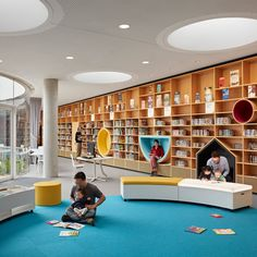 Green Square Library and Plaza wins big at Australian Institute of Architects NSW Awards — Stewart Architecture Library Architecture, Architecture Awards, Education Architecture, School Architecture, Interior Architecture, Interior Design, Public Library Design, Bookstore Design, School Library Design