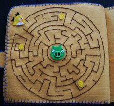 Angry Birds Quiet Book - maze page