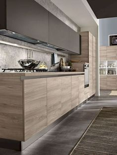 7 Modern Kitchen Cabinets Ideas To Try - Stylish Kitchen Cabinet Ideas Kitchen Room Design, Kitchen Cabinet Design, Kitchen Sets, Home Decor Kitchen, Kitchen Layout, Interior Design Kitchen, Kitchen Walls, Decorating Kitchen, Kitchen Colors