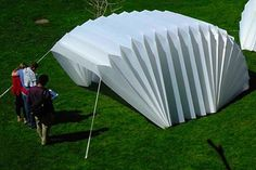 The Accordion reCover Shelter - An article of 8 different ways to design an emergency shelter.  Interesting to see 8 different incredibly diverse ways to serve one similar function and purpose.  Is form follow function predetermined by the function or is it our interpretation of the function?