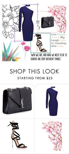 """""""Untitled #1"""" by shine56-1 ❤ liked on Polyvore featuring Yves Saint Laurent, Gianvito Rossi, Krystal and Populaire"""