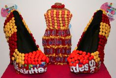 Candy Shoes for a Fashion Theme Bat Mitzvah by Covered in Candy - mazelmoments.com