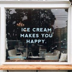 Imagem de ice cream, happy, and quotes Pretty Words, Beautiful Words, Store Fronts, Gelato, Are You Happy, Typography, Inspirational Quotes, Motivational Quotes, Make It Yourself