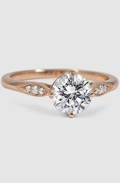 14K Rose Gold Jolie Diamond Ring. Love the simplicity of this ring, although I'm more of a silver person.