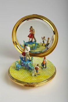Playful Miniature Sculptures Inspire Imaginative Narratives.