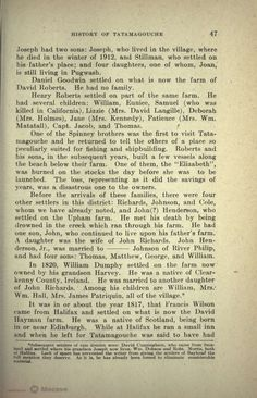 A History of Tatamagouche, Nova Scotia, Page 65 | Document Viewer