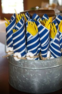 Nautical themed party.                                                                                                                                                                                 More