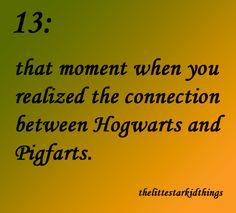 The Little Starkid Things #hogwarts #pigfarts