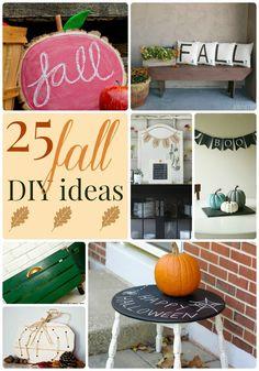 Great Ideas — 25 Fall DIY Ideas!