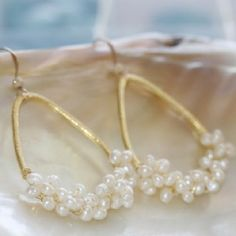 Iceland Earrings, freshwater pearls, bridal – Erin McDermott Jewelry