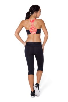 Apricot Zebra Gym Crop - LIMITED by Black Milk Clothing $45AUD