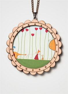 Princess Wooden Necklace