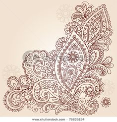 Henna design...corner design... kinda likin the paisley design