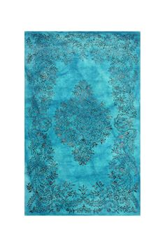 Hand Tufted Oceania Wool Blend Rug - Blue by nuLOOM on @HauteLook
