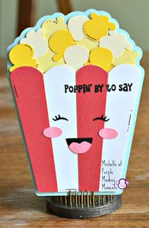 Pretty Paper, Pretty Ribbons: Poppin' By To Say. Kids Craft Storage, 3d Cuts, Bday Cards, Paper Crafts Origami, Shaped Cards, Kids Cards, Creative Crafts, Homemade Cards, Diy Gifts