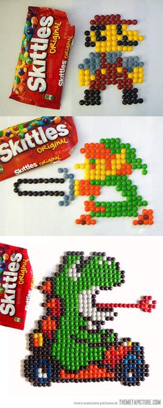 Awesome 8-Bit Skittle Art…