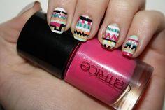 Nail Challenge tribal/aztec print BeautyChef