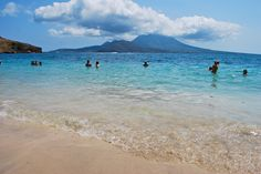 View of Nevis from St. Kitts at Cockleshell Bay