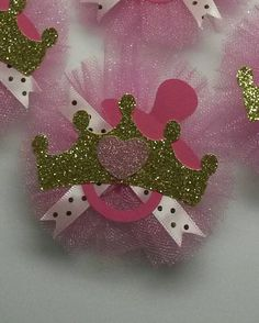12 Pink Gold guest pins Mommy to be Corsage by fourDOLLYSboutique