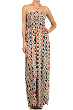 Treasure Island Geo Print Maxi Dress --- I just won this dress in a giveaway!  So excited to get it:)  Think I could use some fun accessories to go with it.