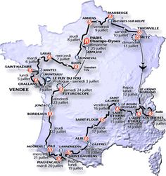 Bildresultat för tour de france 1999 race map