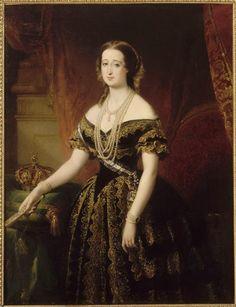 La emperatriz Eugenia por  Edouard Louis Dubufe