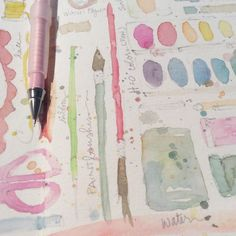 A is for art supplies. Duh. #creativegirl #creativepracticing (this is what I am working on @kellybarton)