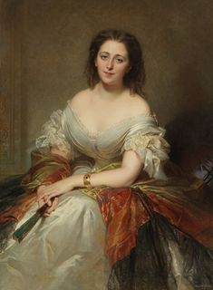 1859 Maria Ricci, Countess Walewska by Louis Edouard Dubufe (private collection)
