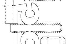 Molde para Letras e Números 3D no Elo7   Kamilla Rosa (8E7707) Teen Titans Go Characters, Symbols, Letters, Molde, Stationery Shop, Alphabet, Log Projects, Craft, Manualidades