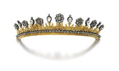 Gold and diamond tiara/ necklace, early 19th Century, composite | lot | Sotheby's