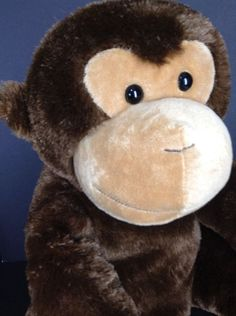 "Gorilla Monkey Ape Chocolate Brown Tan Sits Stuffed Animal Alley Plush 21.5 ""  | eBay"