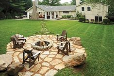 A fire pit ring becomes an alternative gathering spot