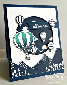 The Stamping Shed: Be Inspired Blog Hop   Carried Away DSP (SAB), Lift Me Up, Up and Away thinlits