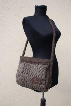 handbag,  accessories for women, wool, felting, artbag, art, filz, natural material, accessory, knitted bag, 62 $