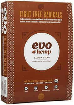 Evo Hemp Raw Organic Nutrition Bar - Cashew Cacao - 1.69 oz - 12 Pack ** You can get more details by clicking on the image.