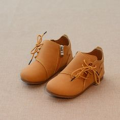 Spring Autumn Kids PU Leather Fake Laces Side Zipper Ankle Boots Kids Shoe  Storage 0dc9ac840325