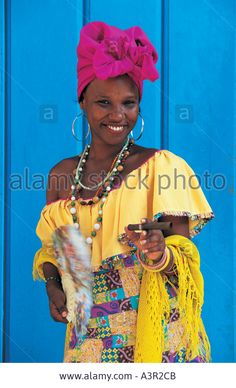 Woman in Havana Cuba Stock Photo