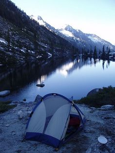 riskyadventures:  Camp At Lower Lake by flexabull on Flickr.