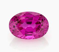 3rd Place, Classic Gemstone: Joseph Ambalu, Amba Gem Corp., New York, NY. 5.00 ct. oval pink Sapphire.