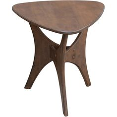 INK+IVY Blaze Triangle Wood Side Table ($140) ❤ liked on Polyvore featuring home, furniture, tables, accent tables, natural, triangle table, wood end table, triangle accent table, wooden end tables and triangular table