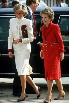 Princess Diana and Nancy Reagan.