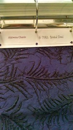 I mentioned briefly a post or two ago that we went to Austin, TX for Thanksgiving to visit some old friends. The wife of the couple is an a. Black And Navy, Alabama, Fabric Design, Embroidery, Sewing, Fern, Textile Art, Stitches, Palm
