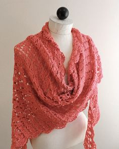 Watch Maggie review this beautiful Flamingo Shawl! Original Flamingo Shawl Crochet Pattern Design: Maggie Weldon Skill Level: Easy Materials:Yarn Needle; Fine Weight Yarn : 14 oz, 1228 yds (400 g, 112