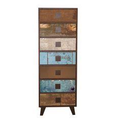 Chiffonnier 7 tiroirs vintage Marron - Atelier - Nouveautés - Promos - Alinéa